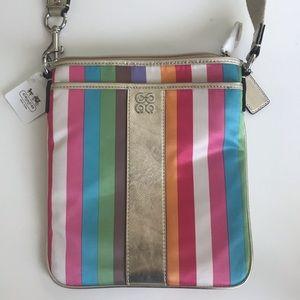 NWT multi color coach bag